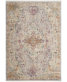 Illusion Lilac and Light Gray 4' x 4' Square Area Rug