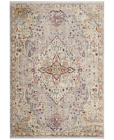 Safavieh Illusion Lilac and Light Gray 4' x 4' Square Area Rug