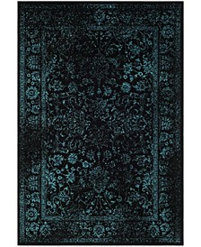 Adirondack Black and Teal 3' x 5' Area Rug