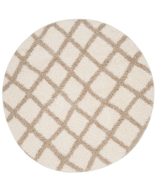 Safavieh Dallas Ivory and Beige 8' x 8' Round Area Rug