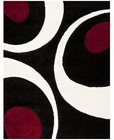 Safavieh Shag Black and Ivory 8' x 10' Area Rug