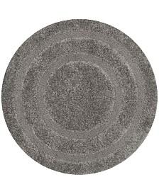 Safavieh Shag Gray 5' x 5' Round Area Rug