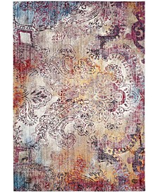 Monray Red and Multi 6' x 9' Area Rug
