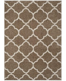 Safavieh New York Shag Dark Beige and Ivory 9' X 12' Area Rug