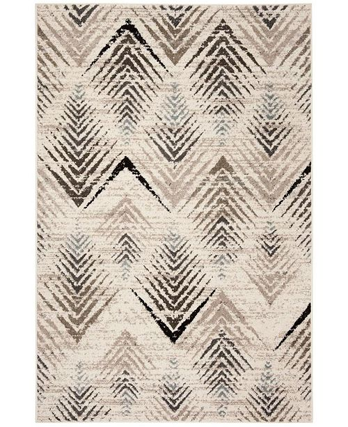 "Safavieh Amsterdam Cream and Beige 6'7"" x 9'2"" Area Rug"