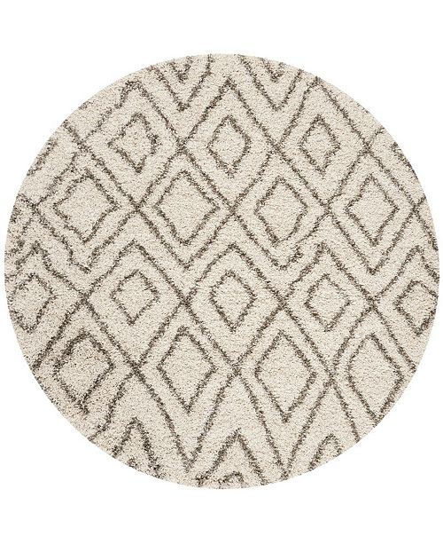 Safavieh Hudson Ivory and Gray 7' x 7' Round Area Rug