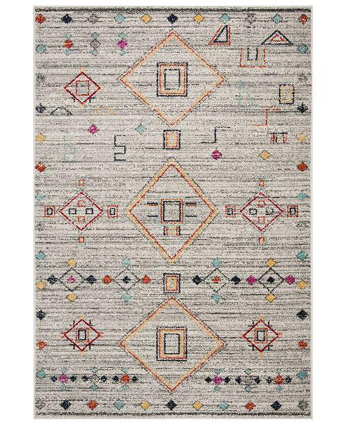 Safavieh Adirondack Light Gray and Red 4' x 6' Sisal Weave Area Rug