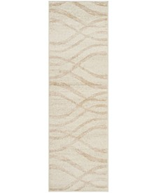 "Adirondack Cream and Champagne 2'6"" x 10' Runner Area Rug"