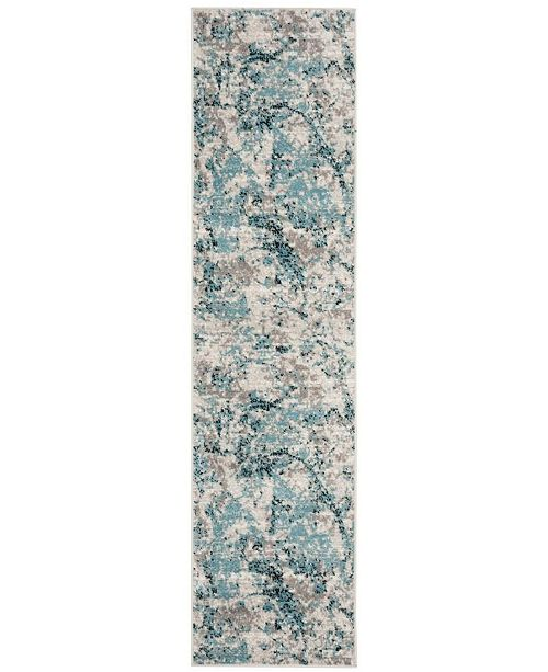 Safavieh Skyler Blue and Ivory 2' x 6' Runner Area Rug