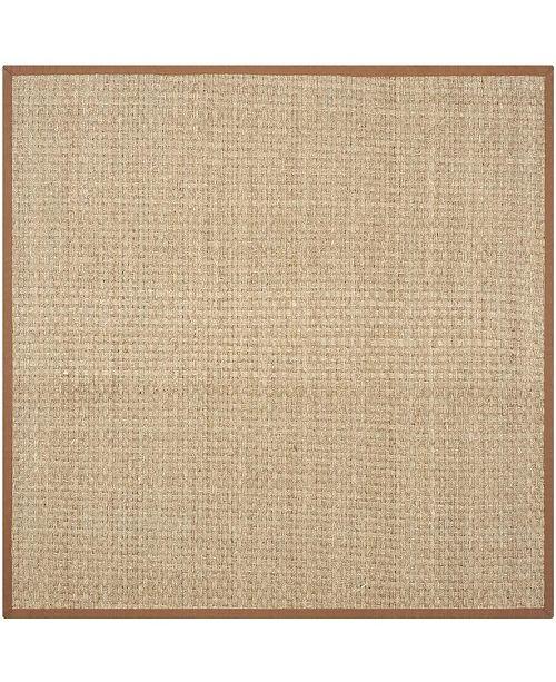 Safavieh Natural Fiber Natural and Brown 10' x 10' Sisal Weave Square Area Rug