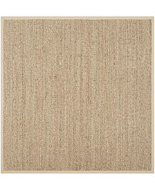 Natural Fiber Natural and Beige 10' x 10' Sisal Weave Square Area Rug