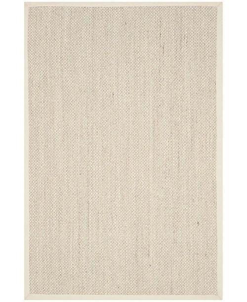 Safavieh Natural Fiber Marble and Beige 6' x 9' Sisal Weave Area Rug