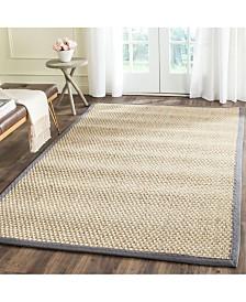Safavieh Natural Fiber Natural and Dark Gray 10' x 14' Sisal Weave Area Rug