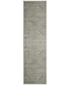 "Vintage Silver 2'2"" x 8' Runner Area Rug"