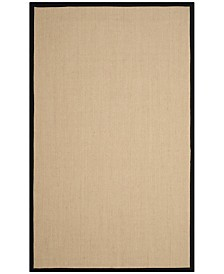 Safavieh Natural Fiber Beige and Black 6' x 9' Sisal Weave Area Rug