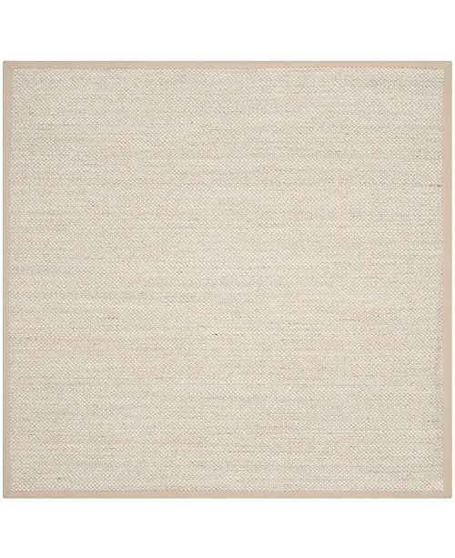 Safavieh Natural Fiber Marble and Linen 9' x 9' Sisal Weave Square Area Rug