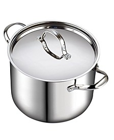 12-Quart Classic Stainless Steel Stockpot with Lid