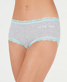 Jenni by Jennifer Moore Cotton Lace Trim Hipster, Created for Macy's