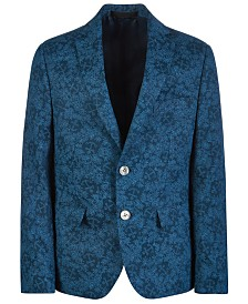 Lauren Ralph Lauren Big Boys Classic-Fit Printed Linen Sport Coat