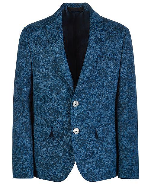 Lauren Ralph Lauren Big Boys Classic-Fit Printed Linen Sport Coat