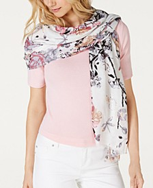 INC Dragonfly Garden Soft Wrap, Created for Macy's