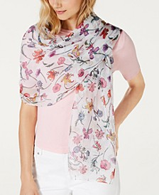 INC Sheer Botanical Floral Wrap, Created for Macy's