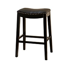 Jaden Bonded Leather Saddle Bar Stool
