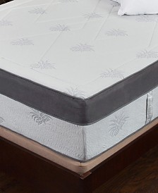 "Om Aloe 15"" Medium Firm Mattress - King, Quick Ship, Mattress in a Box"