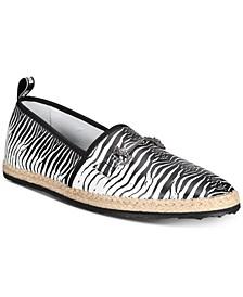 Men's Zebra Espadrilles Slip-Ons