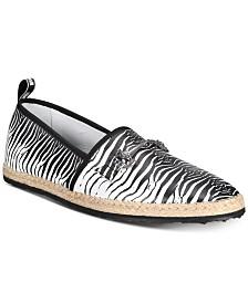 Roberto Cavalli Men's Zebra Espadrilles Slip-Ons