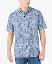 8e37b7de Tommy Bahama Men's Tonga Tiles Classic Fit Printed Camp Shirt