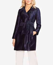 Vince Camuto Satin Twill Belted Jacket