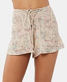 Juniors' Jayden Lace-Up Soft Shorts