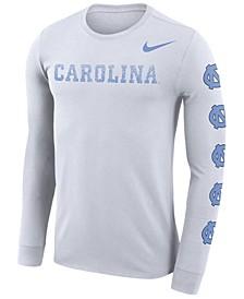 Men's North Carolina Tar Heels Repeat Logo Long Sleeve T-Shirt