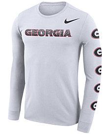 Nike Men's Georgia Bulldogs Repeat Logo Long Sleeve T-Shirt