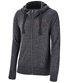 Women's Alabama Crimson Tide Gym Vintage Full-Zip Hoodie