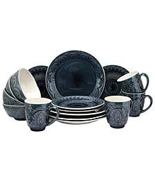 Petra 16 Piece Stoneware Dinnerware Set