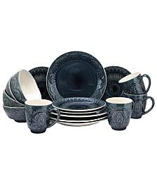 Elama Petra 16 Piece Stoneware Dinnerware Set