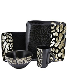 Elama Savannah 16 Piece Stoneware Dinnerware Set