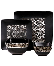 Naina 16 Piece Double Bowl Stoneware Dinnerware Set