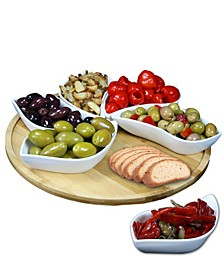 "Signature Modern 13.5"" 7 Piece Lazy Susan Appetizer"