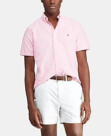 Men's Big & Tall Classic Fit Striped  Shirt