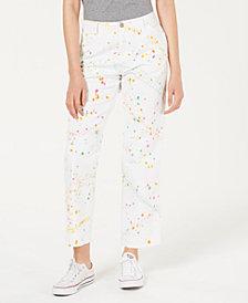 Dickies Cotton Paint Splatter High-Rise Carpenter Pants