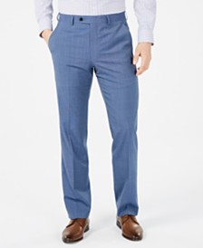 Lauren Ralph Lauren Men's Classic-Fit UltraFlex Stretch Light Blue Tic Suit Pants