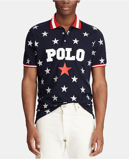 5a7331324e ... Polo Ralph Lauren Men's Classic Fit Mesh Americana Polo, Created for  Macy's ...