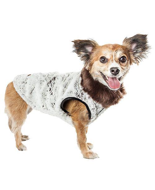 Pet Life Central Pet Life Luxe 'Purrlage' Pelage Fur Dog Coat Jacket