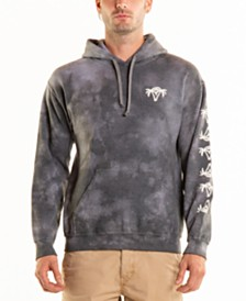 Original Paperbacks Bayside Palm Tree Crystal Wash Tie Dye Hoodie