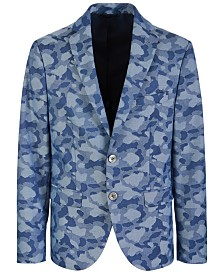 Lauren Ralph Lauren Big Boys Classic-Fit Stretch Camouflage Sport Coat