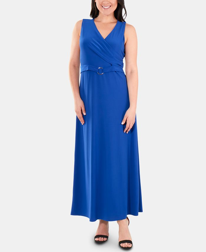 NY Collection - Belted Wrap Dress