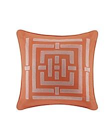 "Nara 26"" x 26"" Embroidered Cotton Euro Shams"